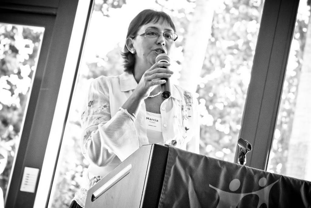 Image of Marcia Hodges Speaking at Event